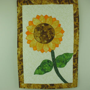 Other - Fusible applique quilted Sunflower wall hanging.